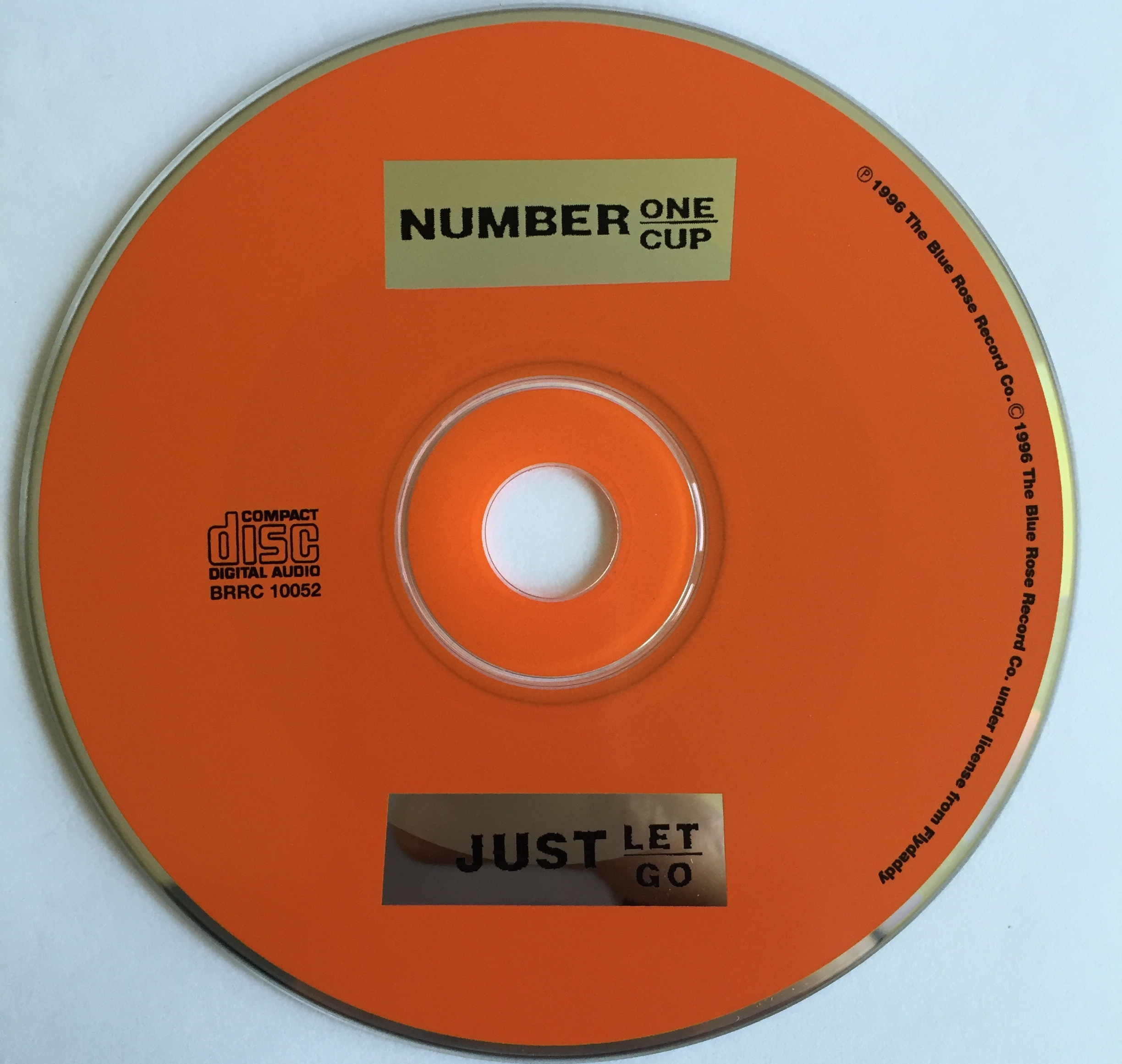 """Sweet Pea RecordsNumber One Cup """"Just Let Go"""" UK CD EP"""